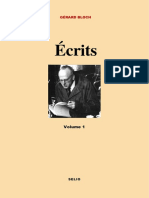 Gérard Bloch, Écrits (Paris