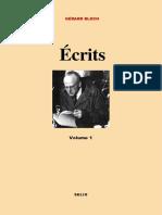 Gérard Bloch, Écrits (Paris