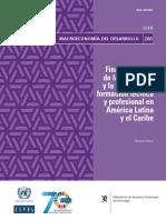 Financiamiento de la enseñanza y la educación y formación técnica y profesional en América Latina y el Caribe