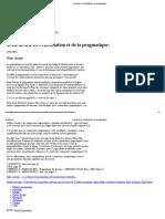 1. La théorie de l'énonciation et de la pragmatique_
