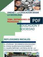 TEMA. DEFINICIONES DE PEDAGOGIA