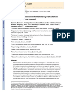 A review of the application of inflammatory biomarkers in epidemiologic cancer research