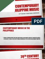 Contemporary Philippine Music