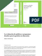 Kisilevsky - La evaluación de políticas y programas.pdf