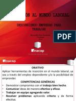 INDUCCIÓN AL MUNDO LABORAL - UNIDAD I- OTOÑO 2014(ALUMNOS)