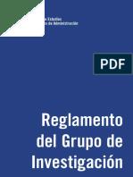 Ejemplo reglamento investigación