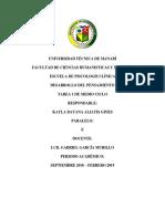 TAREA 1 DE DESARROLLO DEL PENSAMIENTO