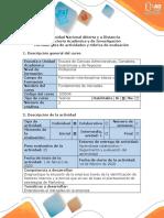 Guía de actividades y rúbrica de evaluación - Paso 1  - Realizar actividad diagnóstica