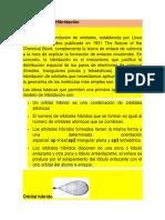 HIBRIDACION DE LOS ORBITALES