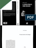 El espacio público como ideología, Manuel Delgado Ruiz