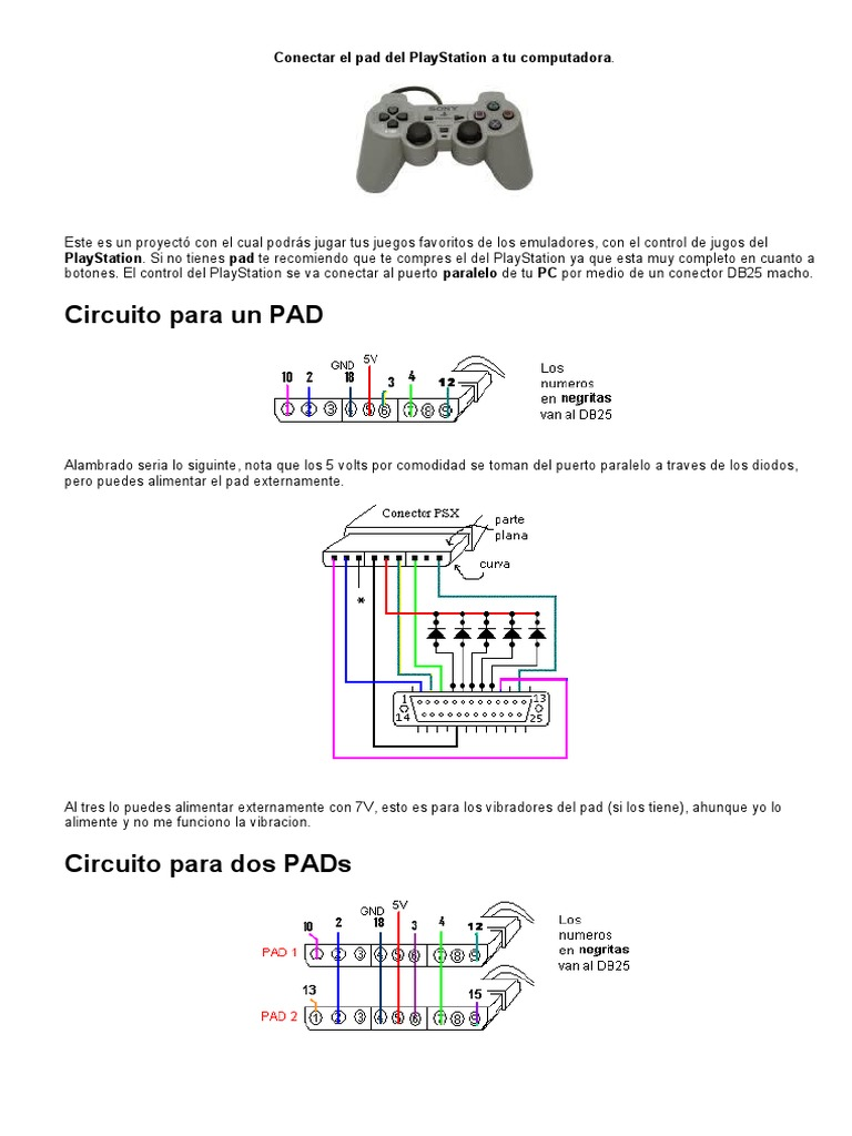 Control Play Station Diagrama Cable