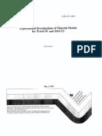 Titanium Material Models Livermore