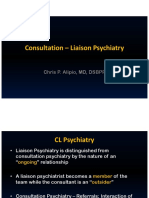 CONSULTATIONLIAISON PSYCHIATRY ICU