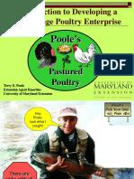 Developing a Free-Range Poultry Enterprise Terry Poole