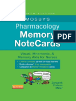 Mosby's - Pharmacology Memory Note Cards