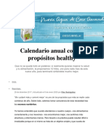 Calendario anual con 12 propósitos healthy