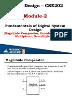 DD Module-2 Part-2(Comparator,encoder,decoder,mux)
