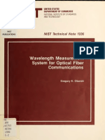 Wavelength Measurement System for Optical Fiber Communications