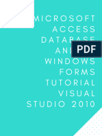 [CRUD] Microsoft Access Database and C Sharp Windows Forms Tutorial Visual Studio 2010