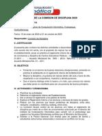 Plan de La Comisión de Disciplina
