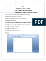 MS OFFICE basics