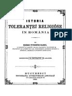 Bogdan Petriceicu Hasdeu - Istoria Tolerantei Religioase in Romania