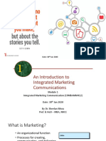 Integrated Marketing Communication FDP Intro