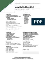 Culinary-Skills-Checklist