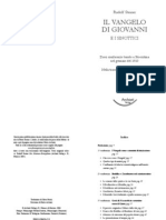 Esoterismo - Rudolf Steiner - Il Vangelo Di Giovanni