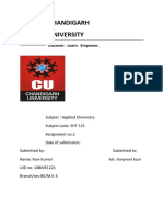 Chemistry assignment no. 2(18BME1221)