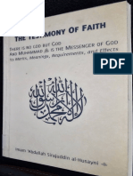 The Testimony of Faith by Imam Abdallah Sirajuddin Al-Husayni