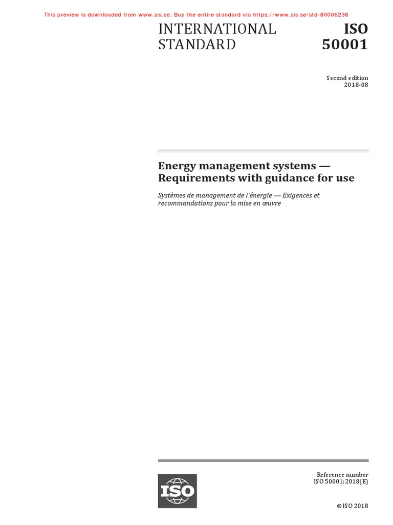 Iso 50001 2018 En Energy Management International Organization For Standardization
