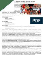 HISTORIA DE LA DANZA EN EL PERÚ