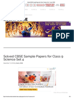 Solved CBSE Sample Papers for Class 9 Science Set 4 - Learn CBSE