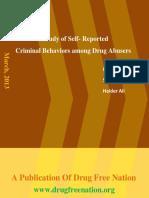 A Study of Self- Reported  Criminal Behaviors among Drug Abusers