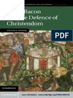 (Cambridge Studies in Medieval Life and Thought_ Fourth Series) Amanda Power - Roger Bacon and the Defence of Christendom-Cambridge University Press (2012)
