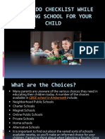 A Must Do Checklist While Choosing School for Your Child