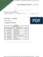 assamble final drive cat 777