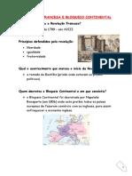 RESUMOS -REVOLUÇÃO FRANCESA E BLOQUEIO CONTINENTAL