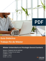 Guía Didáctica del Máster en Psicología General Aplicada de la Universidad Internacional de Valencia