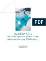Paper Review_EIA practice in India and its evaluation using SWOT analysis