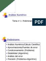 Analisis Numerico, Preliminares