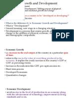 Module 5. Economic Growth and Development