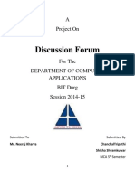 Discussion Forum Synopsis