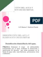 DESINFECCIÓN DEL AGUA Y ELIMINACIÓN DE EXCRETAS