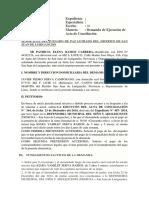 CASO  DEMANDA DE EJECUCION DE ACTA DE CONCILIACION