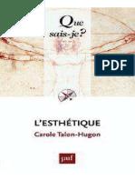 Bibliographie L'Esthétique Talon Hugon Carole