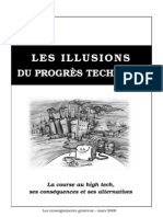 Les illusions du progrès technique, ses conséquences et ses alternatives !
