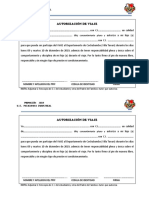 FICHA DE PERMISO VIAJE A VILLA TUNARI  2019
