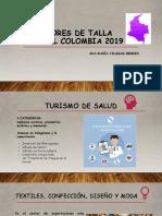 SECTORES DE TALLA MUNDIAL COLOMBIA 2019